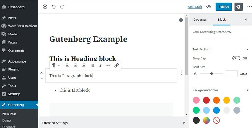 Gutenberg: The new WordPress editing experience