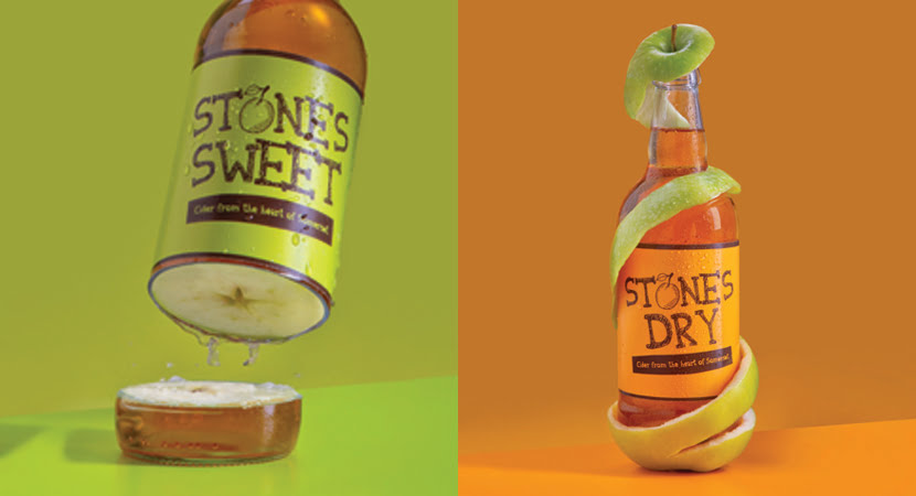 Stones cider food photography
