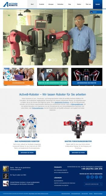 Active8 Robots German language website