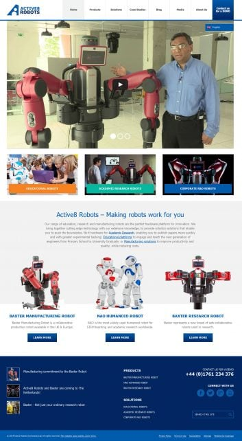 Active8 Robots English language website