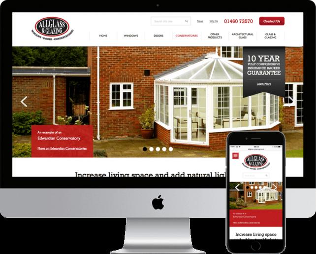 AllGlass & Glazing website