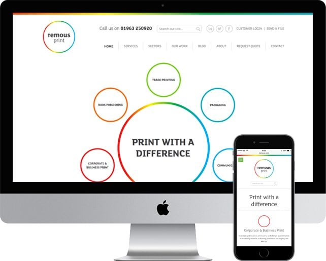 Responsive website for Remous Print