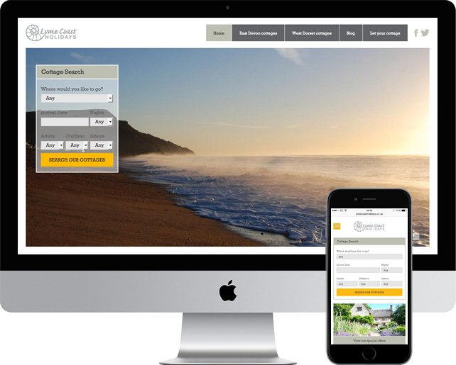 responsive holiday lettings website