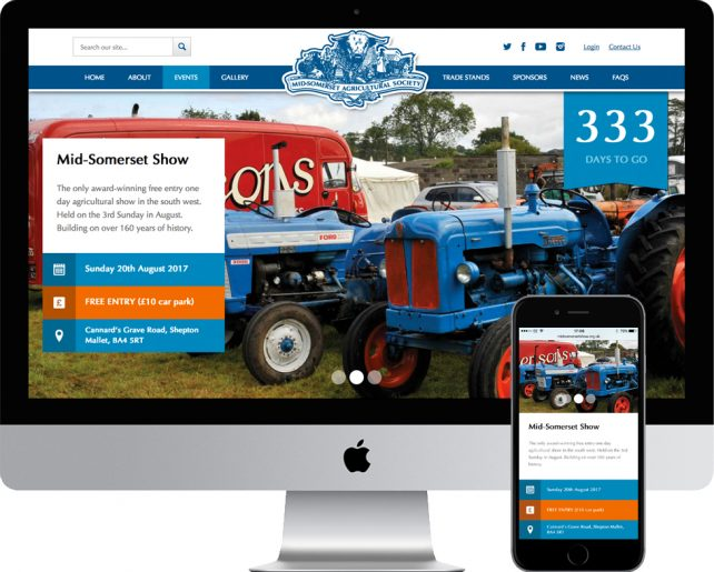 New website for Mid-Somerset Show