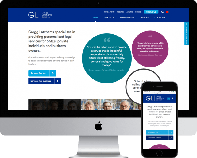 New website for solicitors Gregg Latchams