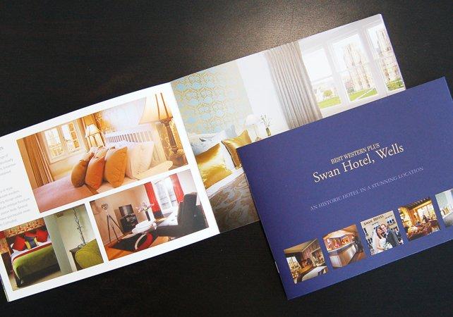 Swan Hotel brochure design