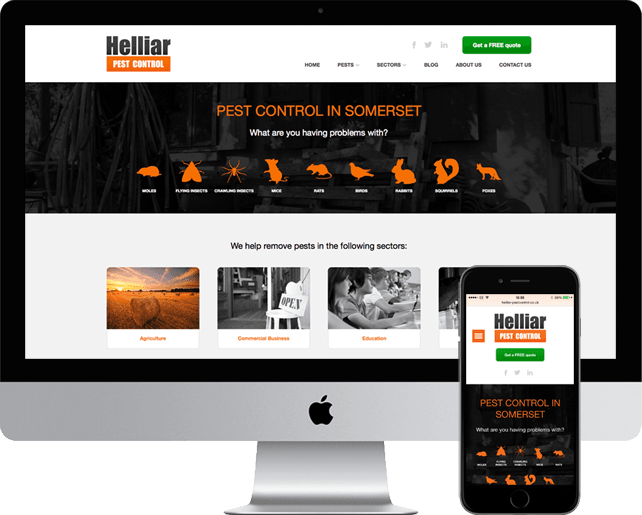 Helliar Pest Control new wordpress website
